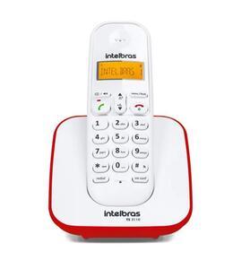 Telefone Digital sem Fio com ID de Chamadas e Display Luminoso ST3110 Branco/Vermelho - Intelbras