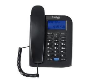 Telefone com ID de Chamada e Viva-Voz TC60 Preto - Intelbras