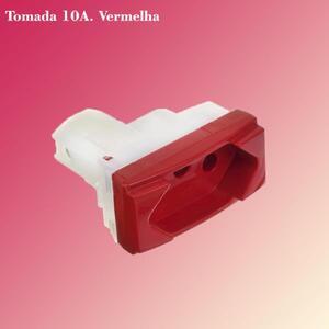 Módulo Tomada 10A. 250V. Vermelho | Linha Brava