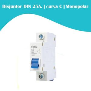 Mini Disjuntor 25A. curva C. Monopolar 3kA.  DIN. (5SJ1) - Iriel