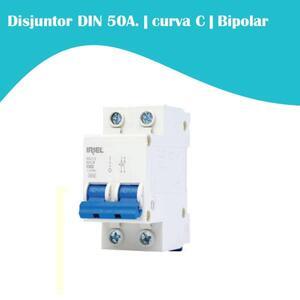 Mini Disjuntor 50A. curva C. Bipolar 3kA.  DIN. (5SJ1) - Iriel