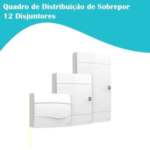 Quadro de Distribuição de Sobrepor p/ 12 Disj. - Iriel