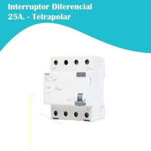 Interruptor Diferencial (IDR) Tetrapolar 3F+N. 25A (5SZ1) - Iriel