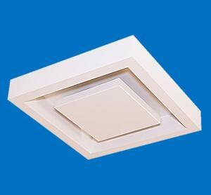 Luminária Plafon Sobrepor Grus Quad. c/ Rebatedor 4xE27 Bivolt Branco/Cobre - Acend