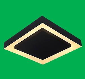 Luminária Plafon Sobrepor Grus Quad. c/ Rebatedor 4xE27 Bivolt Preto/Cobre - Acend