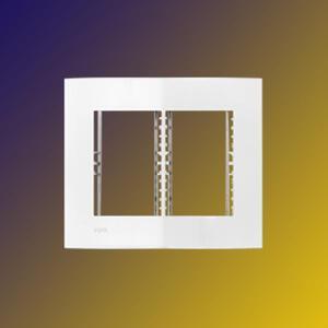 Conjunto 4x4 Placa + suporte p/ 6 Módulos (250002) Branco - Iris