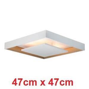 Luminária Plafon Sobrepor c/ rebatedor. LED 16,8W. Quad. 47cm. Bivolt. Branco - Traços Retos