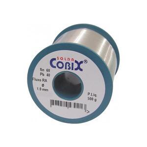 Solda em Fio Estanho 60x40 com Fluxo RA(T2) 1,0mm 500g - Cobix