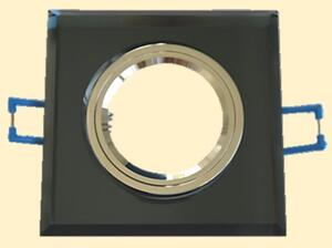 Spot de Embutir Fixo Preto Quad. 9cm x 9cm. 1xGU10 (BK065) - Inovelti