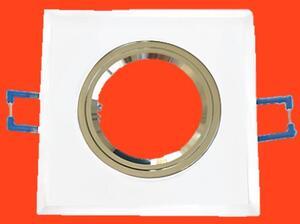 Spot de Embutir Fixo Pérola Quad. 9cm x 9cm. 1xGU10 (WT075) - Inovelti