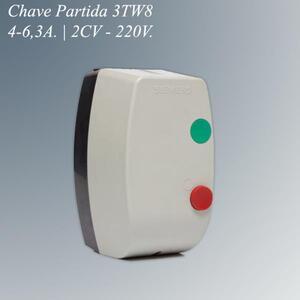 Chave Magnética Partida 3TW8 2,0CV. 4,0-6,3A. 220V. - Siemens