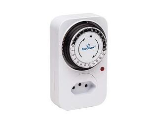 Timer Temporizador Digital 8 Programações 10A Bivolt Branco - Decorlux