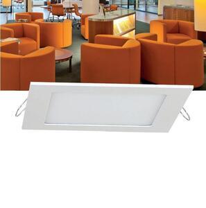 Placa de Embutir LED 36W.  Quad. 40x40cm. Luz Neutra (4000K) / Branco - Manplex