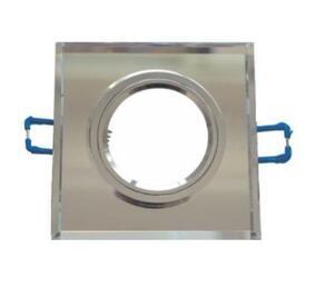 Spot de Embutir Fixo com Vidro Espelhado Quad. 9cm x 9cm. 1xGU10 (SL05S) - Inovelti
