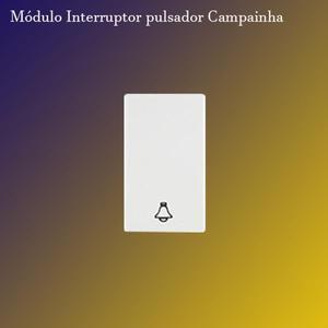 Módulo Interruptor Pulsador símb. Campainha 10A. (271007) Branco - Iris