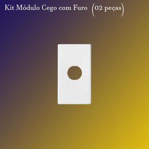Kit Módulo Cego c/ Furo Branco 275002. (02 peças) - Iris