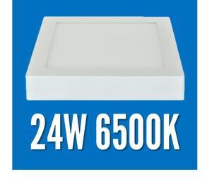Plafon LED Sobrepor 24W.  Quad. 30x30cm. Luz Branco Frio (6.500K) / Branco - MB Led