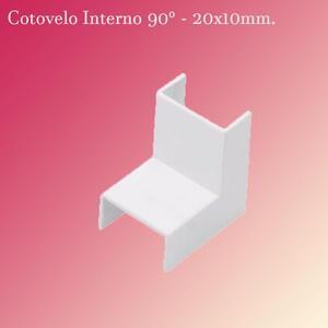 Cotovelo Interno para Canaleta 20x10mm. (5454C) Branco - Brava