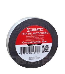 Fita Isolante Autofusão 19mm x 10m Preta - Sibratec