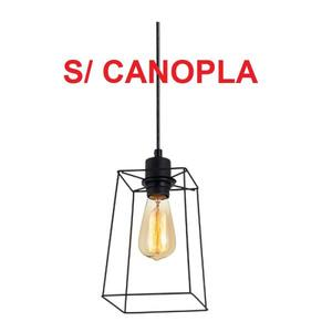 Pendente Aldebaran S/ Canopla 1 Lâmpada 15cm x 15cm. Preto - Avant