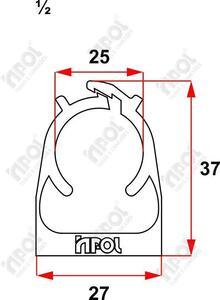 """Abraçadeira Click Branca 1/2"""" PVC - Inpol"""