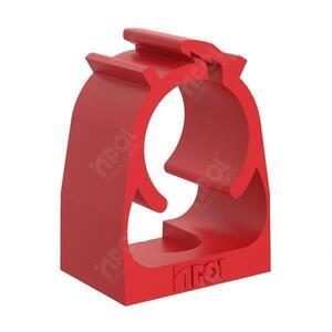 """Abraçadeira Click Vermelha 3/4"""" PVC - Inpol"""