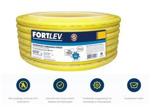 Eletroduto Corrugado Conduite  32mm. 1 25m. Antichama Amarelo - Fortlev