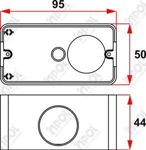 Caixa 5 Entradas para Condulete 1/2 - 3/4 Branco - Inpol