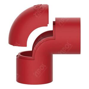 Joelho/Cotovelo para Condulete 1/2 Vermelho SR. - Inpol