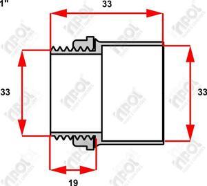Conector Box Reto para Condulete 1 Cinza  - Inpol