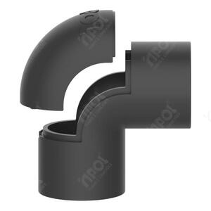 Conector Box Reto para Condulete 3/4 Preta  - Inpol