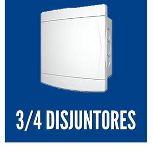 Quadro de Distribuição de Embutir p/ 03-04 Disj. - Tigre