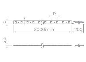 Fita Led Eco rolo com 5 metros IP20 4000K. 10W/M. 12V (STH7814/40) - Stella