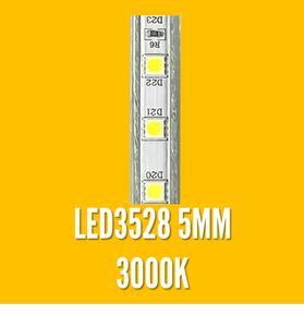 FITA LED 220V. IP65 LED3528 3000K 1MT. 5mm