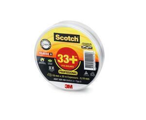 Fita Isolante Scotch 33+ Profissional 19mm x 20m Preta - 3M