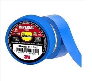 Fita Isolante Imperial 18mm x 10m Azul - 3M