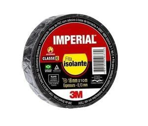 Fita Isolante Imperial Slim 18mm x 10m Preta - 3M