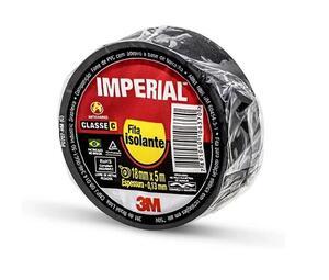 Fita Isolante Imperial Slim 18mm X 5 m Preta - 3M