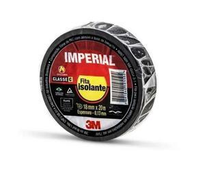 Fita Isolante Imperial Slim 18mm X 20m Preta - 3M