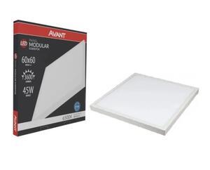 Painel Plafon LED Quadrado Sobrepor Branco (6500K - Branco Frio) 60cm x 60cm 45W - Avant
