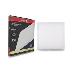 Painel Plafon LED Quadrado Sobrepor Branco (4000K - Neutra) 60cm x 60cm 45W - Avant