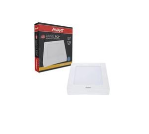 Painel Plafon LED Quadrado Sobrepor Branco (3000K - Branco Quente) 17cm x 17cm Bivolt 12W - Avant