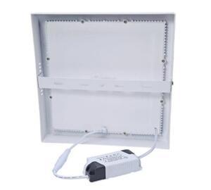 Painel Plafon LED Quadrado Sobrepor Branco (6500K - Branco Frio) 17cm x 17cm 2,5cm Bivolt 12W - MBLED