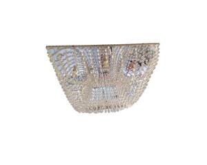 Plafon Pudim Sobrepor Quadrado Cristal Transparente 40cm x 40cm x 12cm  8xG9 Bivolt (1010/40) - ArteLustre