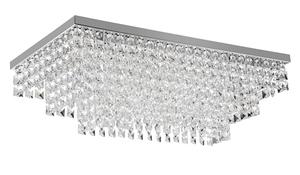 Plafon Sobrepor Quadrado Cristal Transparente 60cm x 30cm x 21cm 6xG9 Bivolt (G38706C) - Palacio