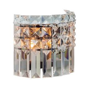 Arandela Paris Redonda Cristal Transparente Ø16cm x 8cm Bivolt 1xG9 - Bronzearte LLUM