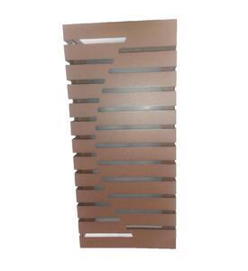 Arandela Externa Retangular Marrom (AE612) 32cm x 14cm x 10cm Bivolt 2xE27 - Felluz
