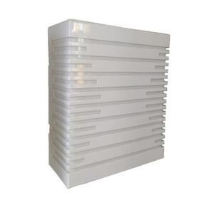 Arandela Box Silhueta P Acríílico Retangular Branca (540) 20,5cm x 17,5cm x 7,5cm 2xE27 - Metal Domado