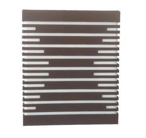 Arandela Box Silhueta P Acrílico Retangular Marrom (540) 20,5cm x 17,5cm x 7,5cm 2xE27 - Metal Domado