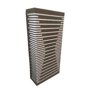 Arandela Box Silhueta G Retangular Acrílico Marrom (541) 40,5cm x 17,5cm  x7,5cm 2xE27 - Metal Domado